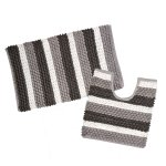 ALWAYS HOME - 2 Piece Bath Mat Set Grey