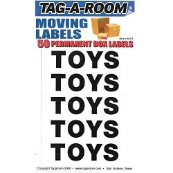 Tag-A-Room Box Content Moving Label Toys