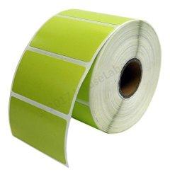 "Zebra eltron Compatible 2.25"" X 1.25"" Green Direct Thermal Labels - Six 6 Rolls 1 000 Per Roll - 2.25 X 1.25 Labels 2-1 4"" X 1-1 4"" - Bpa Free ......"