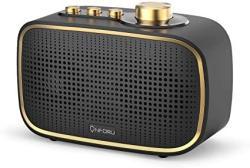 Onforu Retro Bluetooth Speaker 20W Vintage Wireless Speaker With Loud Stereo Sound Bluetooth 5.0 Indoor Speaker For Bedroom Livi