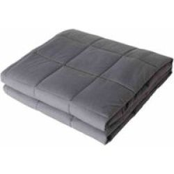 Somnia Luxury Full Size Bed Gravity 7KG Weighted Blanket - Grey