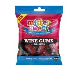 Mister Sweet Gums Red & Black Wine Gums 1 X 125G
