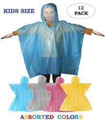 pretty and colorful good texture the cheapest Wealer Rain Poncho - Disposable Kids Emergency Raincoat With Pullover  Hoodie School Recreation Hooded Rain Gear For Girls And Bo   R830.00   Car  Parts ...