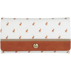 Polo Heritage Trifold Purse Brown - White