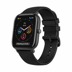 Amazfit Gts Fitness Smartwatch With Heart Rate Monitor 14-DAY Battery Life Music Control 1.65 Display Sleep And Swim Tracking Gps Water Resistant Smart Notifications Obsidian Black