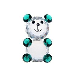 H&d Crystal Cute Baby Bear Figurines Collection Paperweight Animal Figurine For Kids Gift