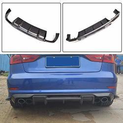 JC SPORTLINE A4 B9 CF Rear Trunk Lip fits Audi A4 B9 S4 A4 Sline Sedan 2016-2019 Carbon Fiber Rear Boot Lid Spoiler Wing