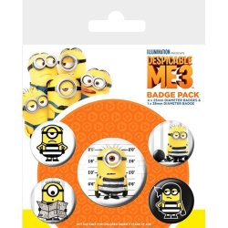 Despicable Me 3 - Minion Print Button Badges 5PK