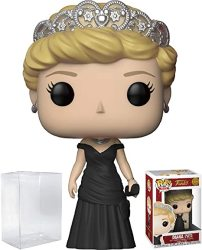 Funko Pop Royals: The Royal Family - Diana Princess Of Wales Vinyl Figure Bundled With Pop Box Protector Case
