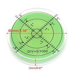 OTGO 60MM Large Spirit Bubble Level Degree Mark Surface Circular Measuring Bulls Eyes