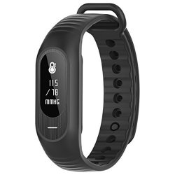 SMART WATCH Blood Pressure Heart Rate Monitor Fitness Tracker Black
