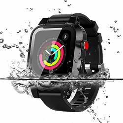 Apple Watch Waterproof Case For 44MM Apple Watch Series 4 Yuanhenry Waterproof Shockproof Impact Resistant Rugged Protective Case With Built-in Screen Protector Premium Soft