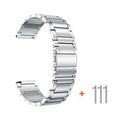 Yeejok Vivoactive 4S 40MM Metal Watch Band Replacement 18 Mm Quick Released Stainless Steel Watch Strap Compatible For Garmin Vivoactive 3S 39MM Captain Marvel 40MM Silver