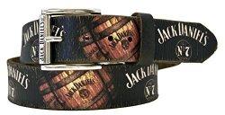 Jack Daniels Barrel & Logo Vintage Screenprint Leather Belt