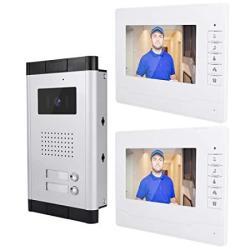 7 Inches Video Door Phone Video Intercom Systemvideo Doorbell System Wired Video Door Phone HD Camera Kits Dual-way Intercom For Villa House Office A