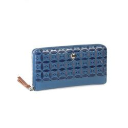 Polo Berkley Zip Around Purse Blue