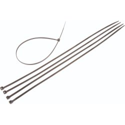 Moto-Quip - 5MM Cable Ties Black 400X5MM 8PC