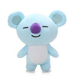 Amyove Kpop Bts BT21 Bangtan Boys Plush Cushion Stuffed Toy Dolls Tata  Cooky Chimmy Shooky Mang Koya Best Gift For Kids Blue Koala 25CM | R |  Dolls |