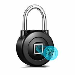 Smart Fingerprint Padlock Bluetooth App Control With Metal IP65 Waterproof For Gym Door School Luggage Bags Bike By Nyboer