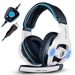 Sades 903 Surround Sound Pro USB PC Stereo Noise-canceling Gaming Headset With High Sensitivity MIC Volume-control Blue LED Ligh