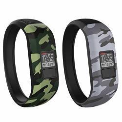 SILICONE Vozehui Bands Compatible With Garmin Vivofit 3 VIVOFIT Jr vivofit Jr 2 Soft Replacement Sport Wristbands For Kids Boys Girls Men Women Small Large