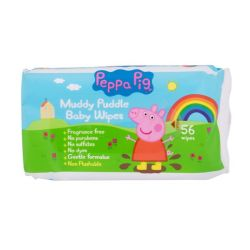 Peppa Pig Muddy Puddle Baby Wipes - 56 Wipes