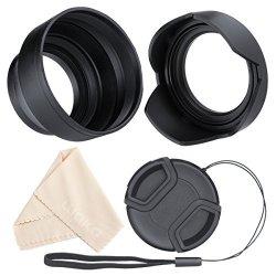 UltraPro 46mm Digital Pro Tulip Flower Lens Hood Bundle for Select Panasonic Digital Cameras Deluxe Accessory Set Included