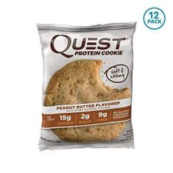 Quest Nutrition Protein Cookie Peanut Butter 2.04 Ounce Pack Of 12