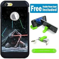 Limited Editions Apple Ipod Touch 5 6 5TH 6TH Generation Hybrid Armor Defender Case Cover With Flexible Phone Stand - Star Wars Kneel Down