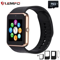 LEMFO GT08 Smart Watch Cell Phone Bluetooth Wristwatch With Camera For Android