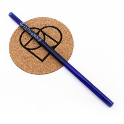 Earth Warrior Straw Set - 1PC - Glass Blue