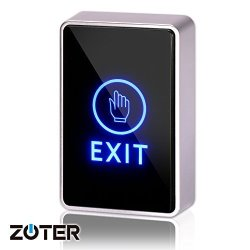 Able Sky Dc 12V Nc No Rectangular Zoter Touch Sensor Door Exit Release Button Switch LED Light