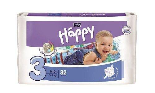 Bella Baby 32 Nappies Size 3 Midi