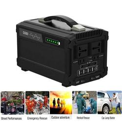 Xoanzyp 500W Portable Power Station Generator 480WH Backup Battery 110V Pure Sinewave Ac Outlet Solar Generator Outdoors Camping