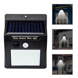 Meiliio Solar Light Outdoor 30 LED Motion Sensor Solar Powered Light With On off Wireless Weatherproof Security Wall Lights For Patio Deck Yard Garden