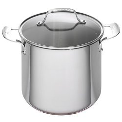emeril lagasse stainless steel copper core stock pot 8 quart silver