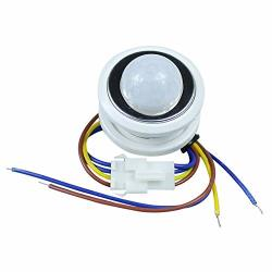 Tomeco Sxzm 1PCS 40MM Pir Infrared Ray Motion Sensor Switch Time Delay Adjustable Mode Detector Switching - Color: White