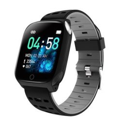 Bakeey F16 Ecg Ppg Heart Rate Blood Pressure Oxygen Monitor Weather Push Dymanic Ui