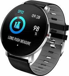 Smart Watch IP68 Waterproof Full Touch Screen Large Screen Pedometer Sleep Tracker Fitness Activity Tracker Bluetooth Call & Sms Colorful
