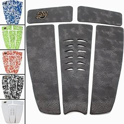South Bay Board Co. Sbbc - Surfboard Stomp Pad - || 5 Piece Stomp Pads || - Custom Fingerprint Texture Long Lasting Traction Pads For Surfboard & Skimboards