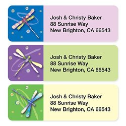Artistic Labels Dragonflies Assorted Set Of 215 Sheeted Address Labels