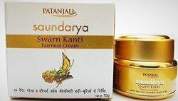Patanjali Saundarya - Swarn Kanti Fairness Cream - Visible Fairness & Even Skin Tone 15GRAM.