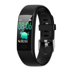 Y10 0.96 Inch Tft Color Screen IP67 Waterproof Smart Bracelet Support Call Reminder Heart Rate Monitoring blood Pressure Monitoring Sleep Monitoring blood Oxygen Monitoring Black