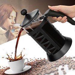 Eshion Us Stock French Press Coffee Tee Espresso Maker 1000ML Stainless Steel Heat Resistant Glass Carafe Kettle With Plunger Lid COLOR3