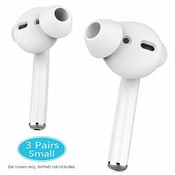 AHASTYLE 3 Pairs Airpods Ear Tips Anti-slip Silicone Earbuds Cover Compatible With Apple Airpods 2 & 1 Or Earpods-not Fit In The