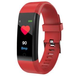 ID115 Plus Smart Bracelet Fitness Heart Rate Monitor Blood Pressure Pedometer Health Running Sports Smartwatch For Ios Android Red