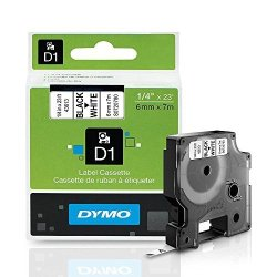 ".Dymo Dymo Labelmanager 420P D1 High-performance Tape Cartridge 1 4"" X 23 Ft Black On White"