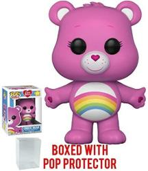 Funko Pop Animation: Care Bears - Cheer Bear Vinyl Figure Bundled With Pop Box Protector Case