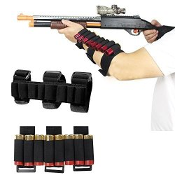 GVN 8 Rounds Gun Ammo Storage Shotgun Shell Holder Adjustable Shooters Forearm Or Buttstock Sleeve Magazine Pouch Black