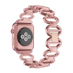 NotoCity Compatible Apple Watch Band 42MM 38MM 40MM 44MM Aluminium Band For Apple Watch Series 4 3 2 1 Man Women Rose Gold 38MM